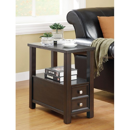 Side table with storage cappuccino 900992 for Home decor kenner