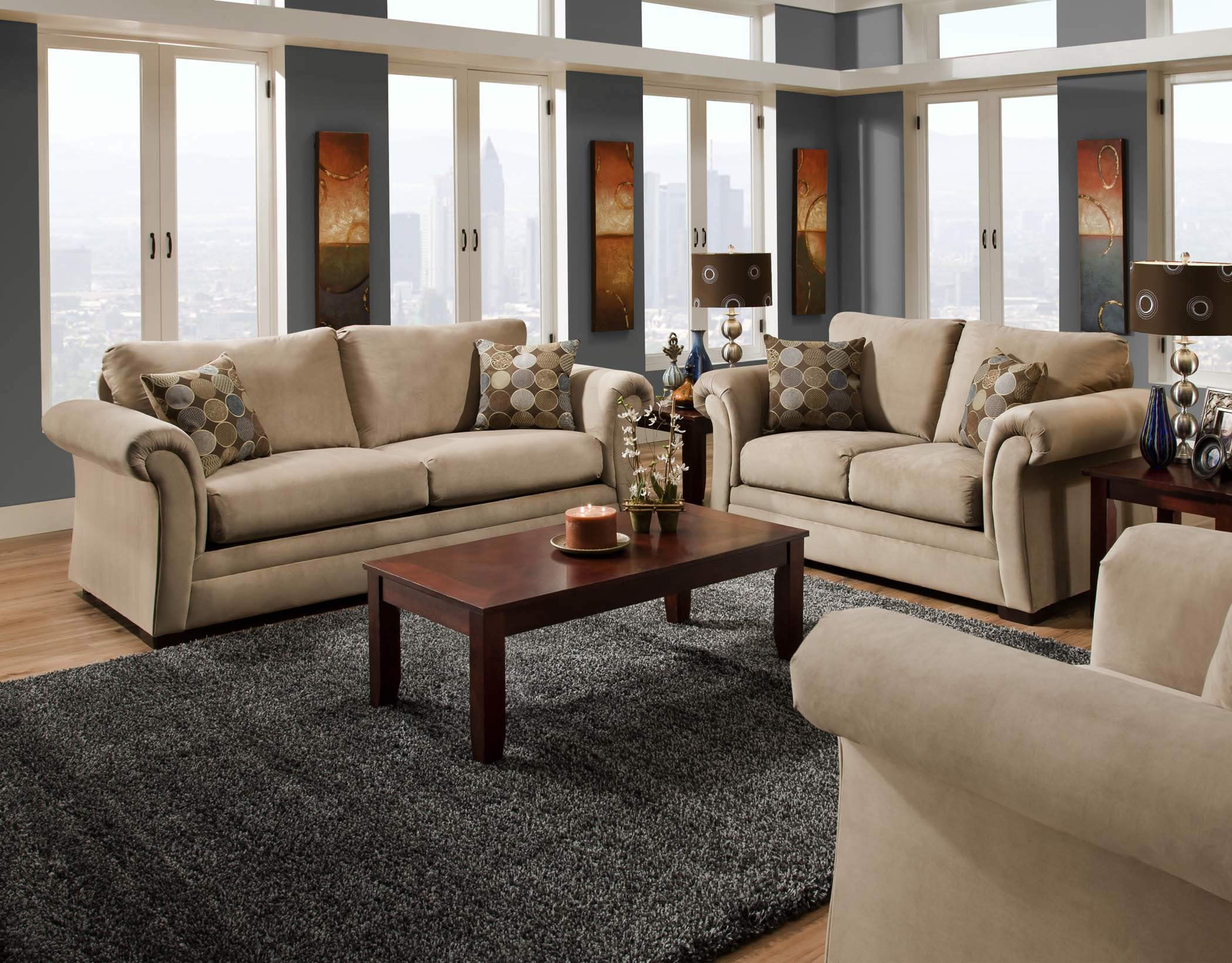 plush living room sets