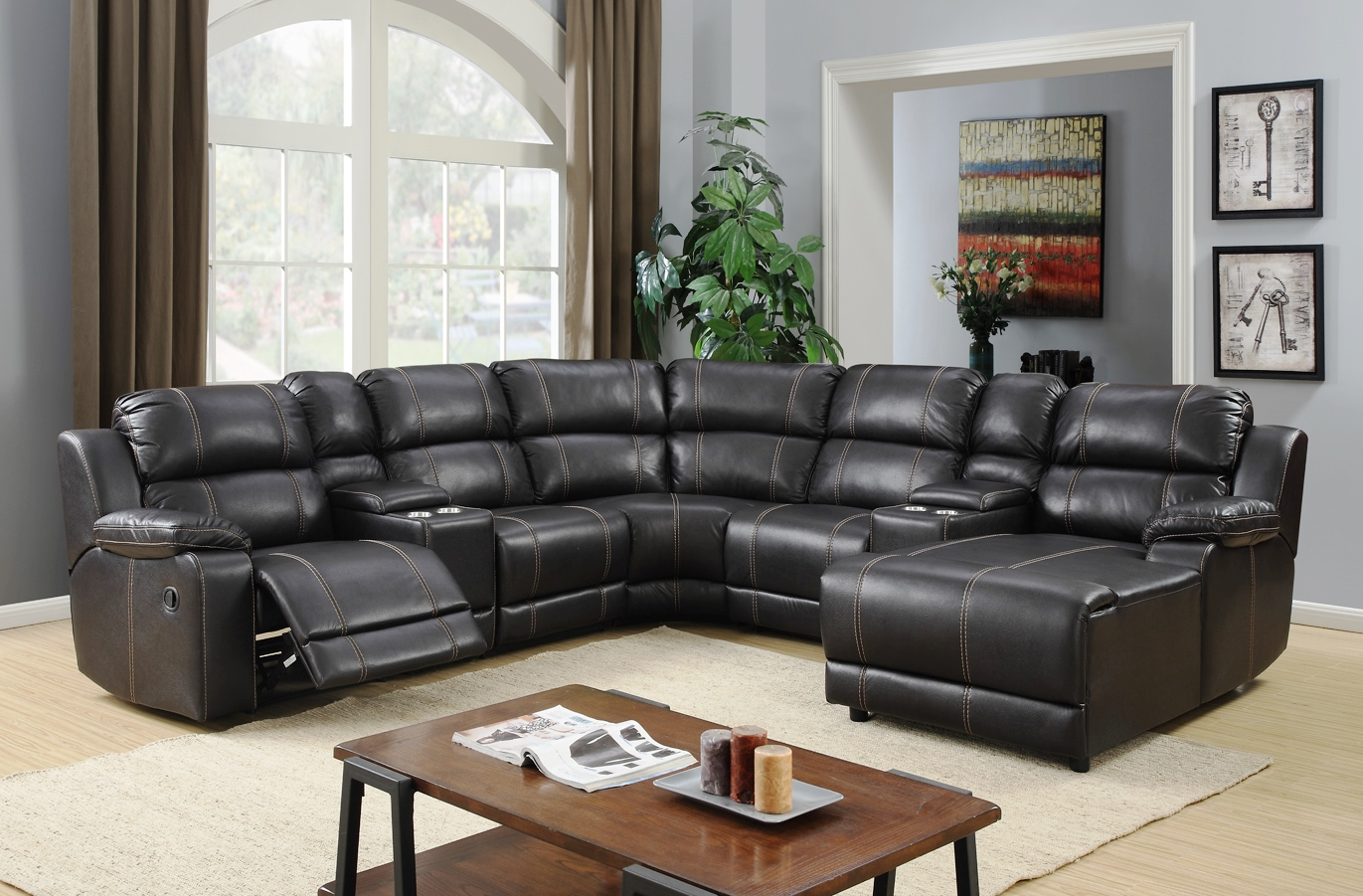 jackson reclining sectional