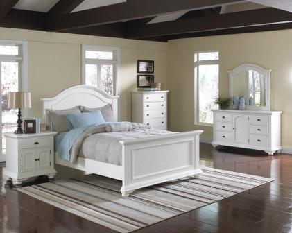 Bedroom Furniture | Brook Pine White Bedroom Set