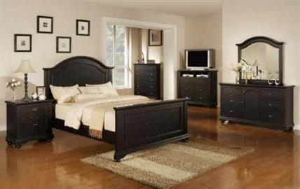 Bedroom Furniture Brook Pine Black